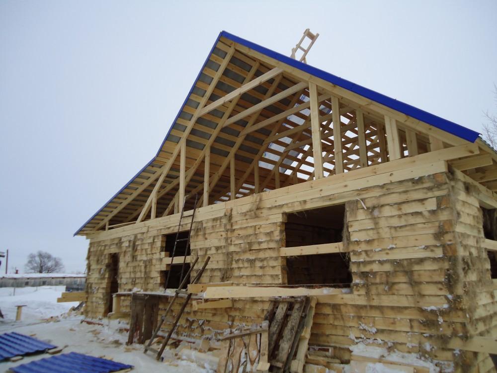 Как построить дом из бруса 150х150 своими  966